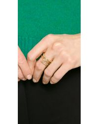Aurelie Bidermann - Metallic Rosebud Ring - Gold - Lyst