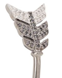 Jade Jagger - Metallic Diamond Embellished Sterling Silver Arrow Bangle - Lyst