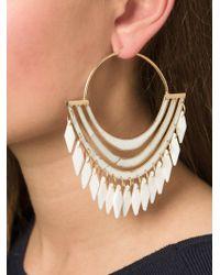Balmain | Metallic Hoop Earrings | Lyst