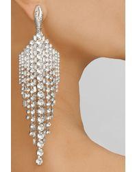Tom Binns - Metallic Animal Collective Silver-Plated Swarovski Crystal Earrings - Lyst