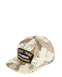Stussy | Brown Veteran Cotton Baseball Hat for Men | Lyst