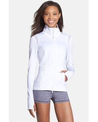 a2b56103e1b2 Lyst - Zella  rev Me Up  Jacket in White