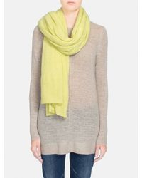 White + Warren | Yellow Cashmere Travel Wrap | Lyst