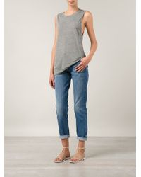 Lacausa - Gray Loose Fit Tank - Lyst