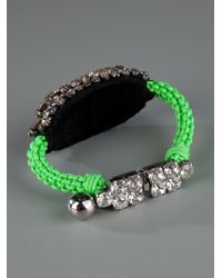 Shourouk - Green 'baraka Moonlight' Bracelet - Lyst