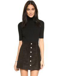 Theory - Black Evian Stretch Bodysuit - Lyst