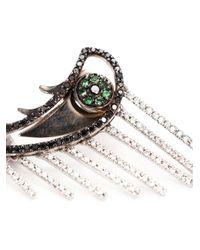 Ileana Makri | Metallic 'crying Eye' Emerald And Diamond Earrings | Lyst