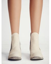 Free People - White Faryl Robin + Womens Panama Woven Chelsea Boot - Lyst