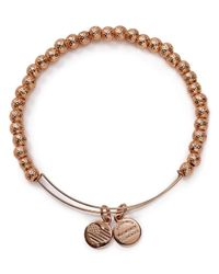 ALEX AND ANI - Pink Euphrates Beaded Rose Gold Tone Wire Bangle - 100% Bloomingdale's Exclusive - Lyst