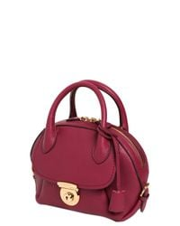 Ferragamo | Purple Small Fiamma Grained Leather Bag | Lyst