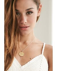 Forever 21 - Metallic Moon And Lola Medium Dalton C Necklace - Lyst