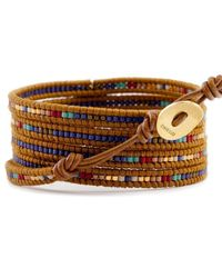 Chan Luu | Blue Mix Charm Wrap Bracelet On Henna Leather | Lyst