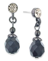 2028 | Gray Jet Bead Drop Earrings | Lyst