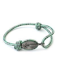 Anchor & Crew | Green Dash London Rope Bracelet for Men | Lyst