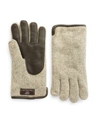 UGG | Natural Faux Fur-lined Gloves for Men | Lyst