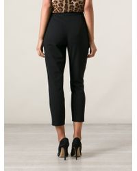 Dolce & Gabbana | Black Virgin Wool Cropped Trousers | Lyst