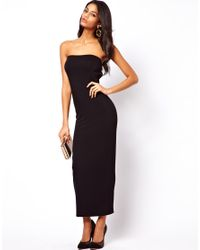 ASOS - Orange Bandeau Strap Maxi Dress - Lyst