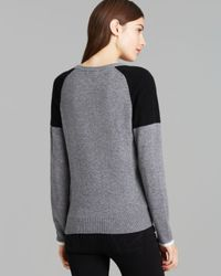 Equipment - Gray Sweater - Sloane Color Block Crewneck - Lyst