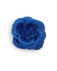 Hook + Albert | Blue Lapel Flower Pin | Lyst