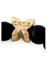 Fefe - Black Stone Bead Bracelet for Men - Lyst