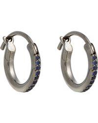 Ileana Makri | Metallic Huggie Hoops Size Os | Lyst