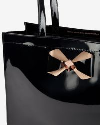 Ted Baker - Black Bow Detail Small Shopper Bag - Lyst