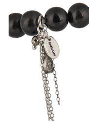 Chan Luu - Black Horn And Diamond Charm Bracelet - Lyst