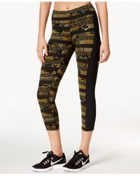 Lyst - Nike Clash Epic Lux Printed Running Cropped Leggings in Natural bb47fc302b6d