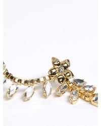 Patrizia Pepe | Metallic Single Earring With Enamelled Flower And Rhinestones | Lyst