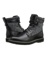 """Timberland Black Britton Hill 6"""" Warm Lined Leather And Fabric Boot for men"""