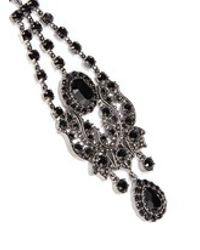 Givenchy - Black 'victorian Chandelier' Crystal Bronze Clip Earrings - Lyst