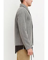 Forever 21 - Gray Wool-blend Drawstring Coat for Men - Lyst