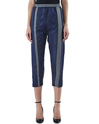 Ilaria Nistri - Blue Women's Mixed Stripe Pants In Navy - Lyst