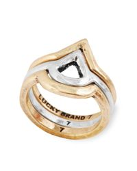 Lucky Brand | Metallic Two Toned Ring | Lyst