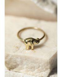 Forever 21 - Metallic Sunahara Elephant Midi Ring - Lyst