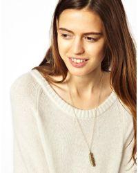ASOS - Metallic Leaf Pendant Necklace - Lyst