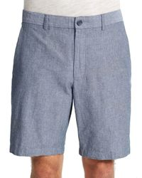 Perry Ellis - Blue Cotton Shorts for Men - Lyst