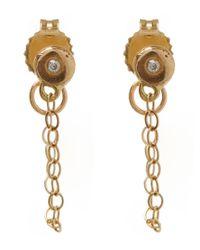 Melissa Joy Manning | Metallic Gold And Diamond Chain Stud Earrings | Lyst