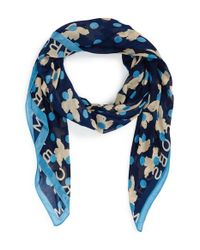Marc By Marc Jacobs | Blue 'Dotty Flora' Scarf | Lyst