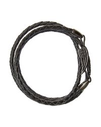 Simon Carter | Black Wing Wrap Leather Bracelet for Men | Lyst