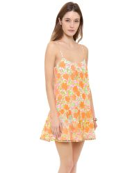 Juliet Dunn - Orange Floral Strappy Cover Up Dress - Lyst