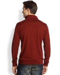 Robert Graham - Gray Robert Mockneck Sweater for Men - Lyst