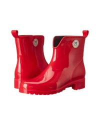 M Missoni | Red Solid Rain Boot | Lyst
