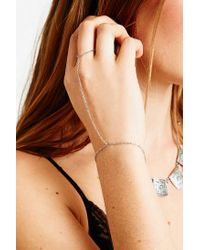 Urban Outfitters | Metallic Fine Hand Chain in Silver | Lyst