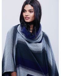Free People | Blue Womens Desert Dream Cowl Poncho | Lyst