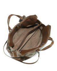 Bottega Veneta   Brown Large Woven Leather Satchel   Lyst