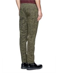 Paul Smith - Green Sketch Hexagon Print Pants for Men - Lyst