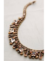 Sorrelli - Orange Sparkled Peche Bib Necklace - Lyst