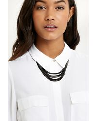 Oasis - Multicolor Ombre Snake Chain Multi Row Collar - Lyst