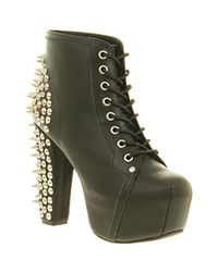 Jeffrey Campbell - Black Lita Platform Ankle Boot - Lyst
